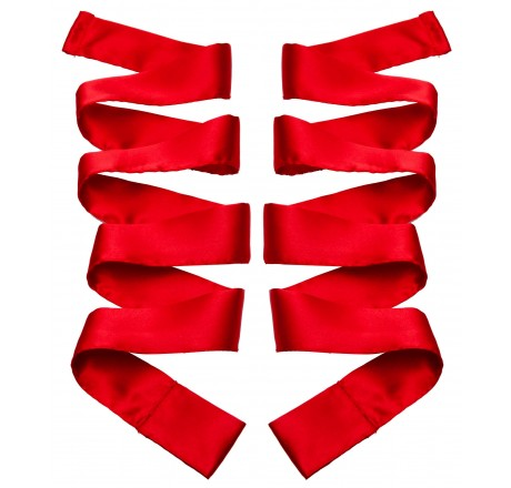 Scarlet Red Satin Sash Set