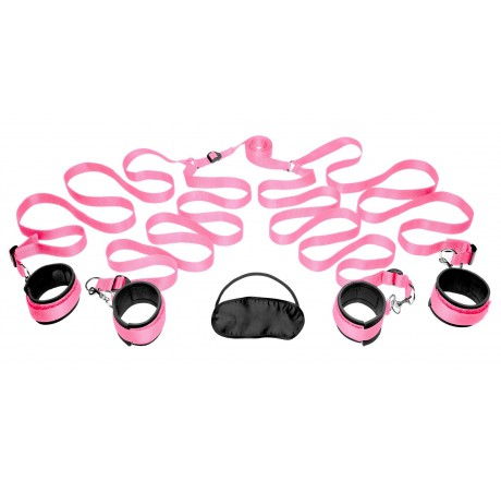 Frisky Pink Bedroom Restraint Kit