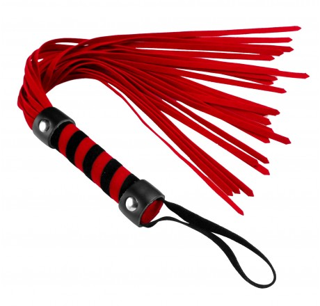 Short Suede Flogger - Red