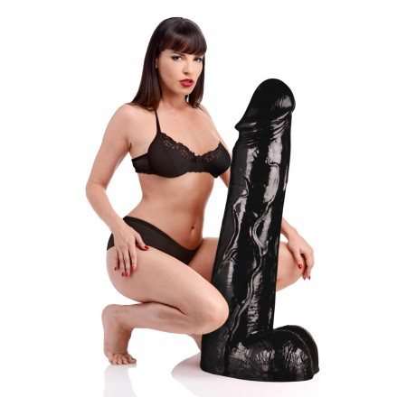 Moby Huge 3 Foot Tall Super Dildo- Black