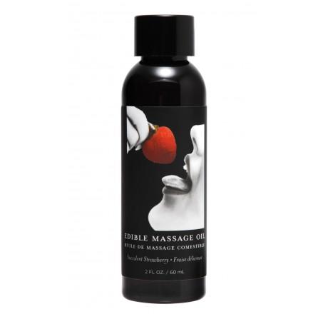2 Ounce Edible Massage Oil- Strawberry