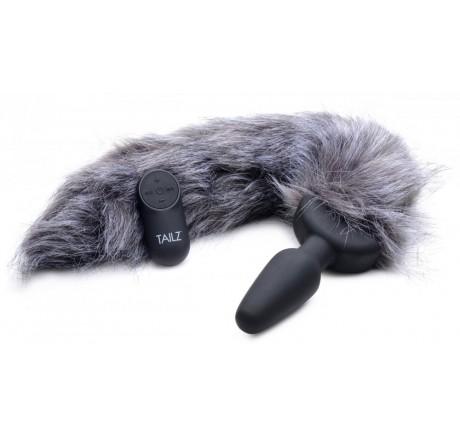 Remote Control Vibrating Fox Tail Anal Plug