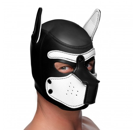 Spike Neoprene Puppy Hood - White
