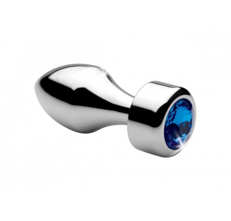 Blue Gem Weighted Anal Plug - Small