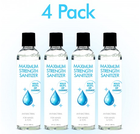 Anti-Bacterial Maximum Strength Hand Sanitizer 8oz 4-Pack