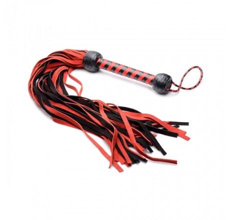 Isabella Sinclaire Black and Red Suede Flogger