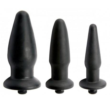 Trinity Silicone Vibrating Butt Plug- Kit