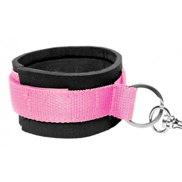 frisky pink bedroom restraint kit bdsm gear emory restraints bed photos