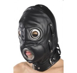 Total Lockdown Leather Hood - Small/Medium