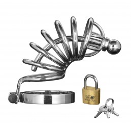 Asylum 6 Ring Locking Chastity Cage
