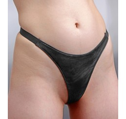 Spiked Leather Thong Panties- LXL