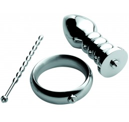 Zeus Deluxe Series Voltaic For Him Stainless Steel Male E-stim Kit