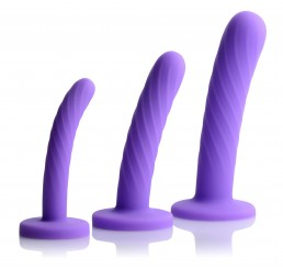 Tri-Play 3 Piece Silicone Dildo Set