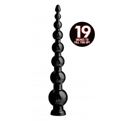 Hosed 19 Inch Graduated Bead Anal Snake