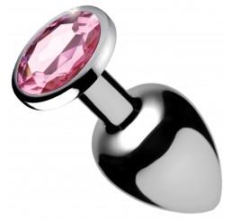 Pink Gem Anal Plug - Small