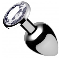Clear Gem Anal Plug - Large