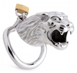 Tiger King Locking Chastity Cage