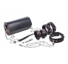 Kinky Clutch Black Bondage Set with Carrying Case