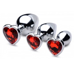 Red Heart Gem Anal Plug Set
