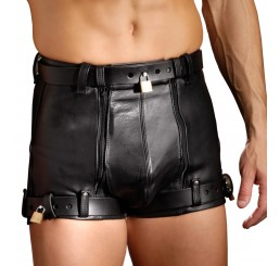 Strict Leather Chastity Shorts- 36 inch waist