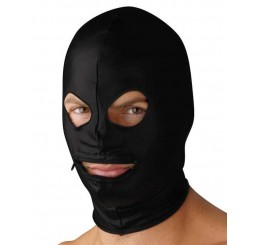 Spandex Zipper Mouth Hood with Eye Holes